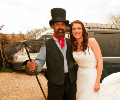Lucky wedding chimney sweep