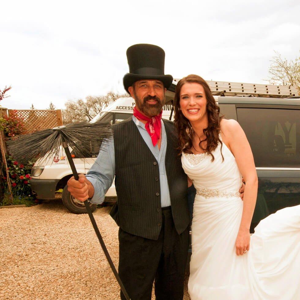 Lucky wedding chimney sweep