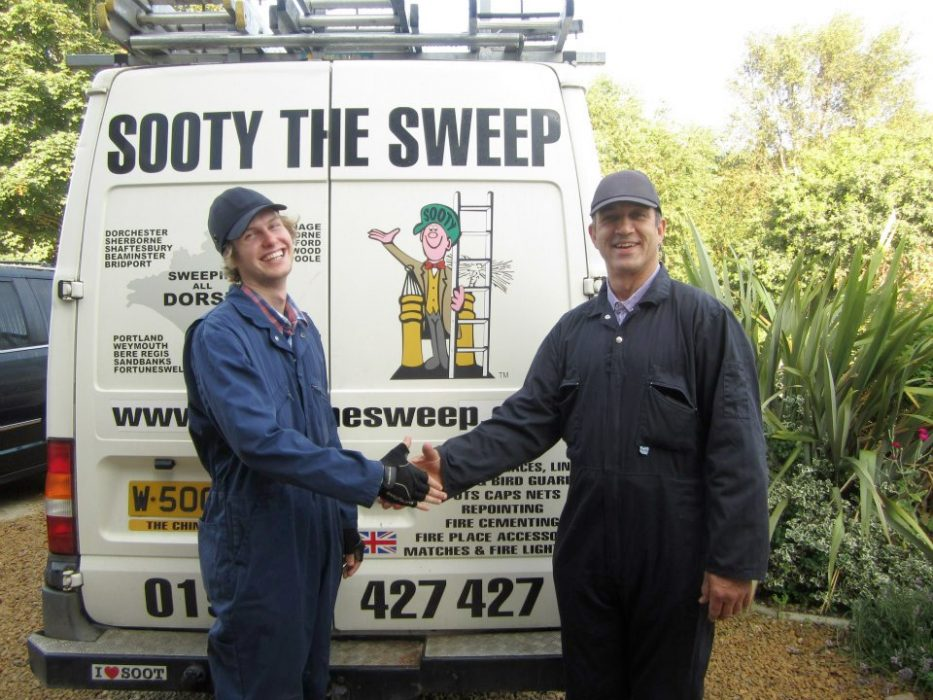 Sooty and Tom and the Sooty the Sweep van